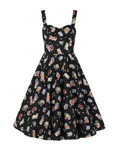 Hell Bunny Tiki Treat Pina Colada 50s Rockabilly Dress