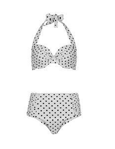 Beach Bash 1950's High Waist Polka Dot Bikini