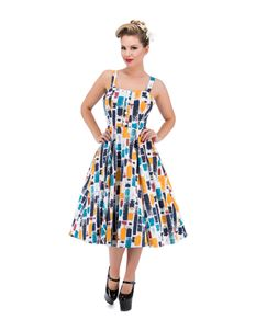 Hearts & Roses Paint Stroke Swing Dress