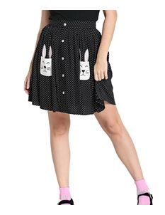 Hell Bunny Miffy Bunny Rabbit Polka Dot Mini Skirt