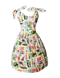 Silly Old Sea Dog 1950s Vegetable Jokes Dress