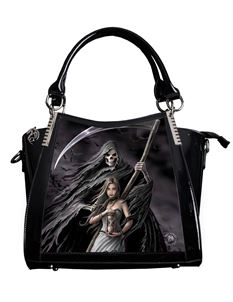 Anne Stokes 3D Summon The Reaper PVC Black Handbag