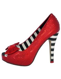 Iron Fist Ruby Slipper Platform Shoes Red