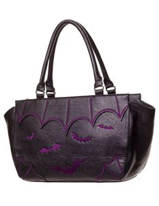 Banned Bats Alternative Faux Leather Bag Handbag