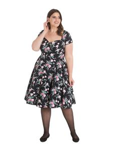 Hell Bunny Lily Rose Floral 50s Style Dress