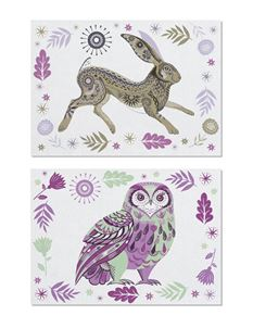 Magpie Wildwood Hare & Owl Pack of 2 Tea Towels