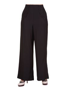 Banned 40s Black High Waist Full Moon Wide-Leg Trousers