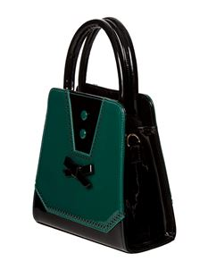Banned Rosemary 50s Vintage Style Handbag Teal Green
