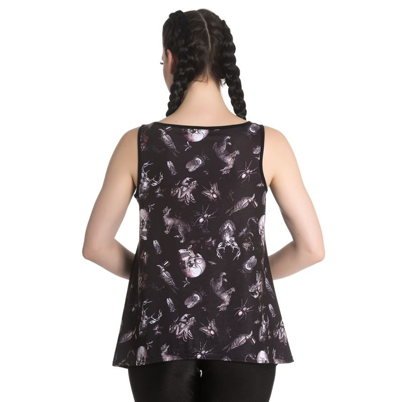Spin Doctor Darwin Taxidermy Skull Insects Alternative Vest Top