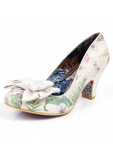 Irregular Choice White Floral Ban Joe Shoes