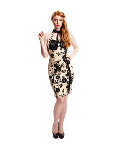 SALE Voodoo Vixen 50's Floral Wiggle Pencil Dress