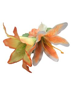 Gertie And The Seamstress Orange Lilies Hair Flower