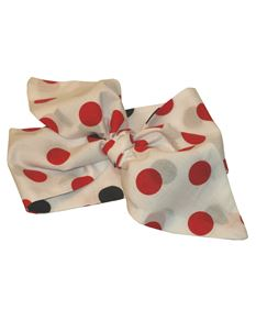 Gas Axe Inc Polka Dot Rockabilly Red and Black Head Scarf Tie