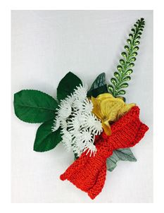 Silly Old Sea Dog Christmas Knitted Bow Flower