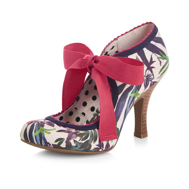 Ruby Shoo Willow Sage Mustard High Heel Shoes