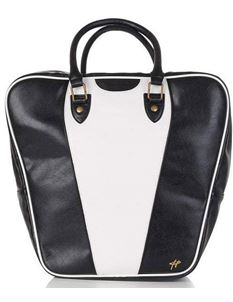Collectif Wanda Bowling Bag In Black And White