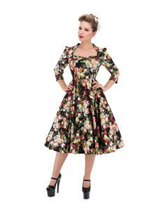 H&R London 50's Thorny Rose Floral Dress