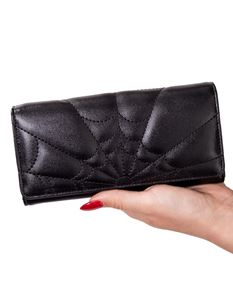 Banned Malice Spider Web Alternative Wallet Purse