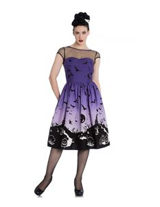 Hell Bunny Haunt 50s Party Halloween Bat Dress