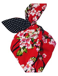 Be Bop a Hairbands Red Cherry Blossom Hairband