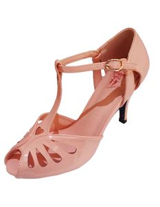 Dancing Days 1950s Blush Pink High Heel Sandals