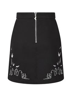 Hell Bunny Cullen Graveyard Alternative Mini Skirt