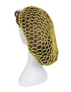 Collectif Yellow Crotchet Snood Hair Net