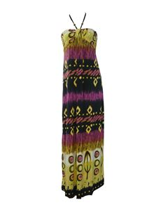 Halterneck Tribal Pattern Maxi Beach Long Summer Dress