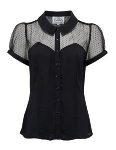 The Seamstress of Bloomsbury Florance Blouse Black