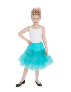H&R London Kids Petticoat In Turqouise Blue