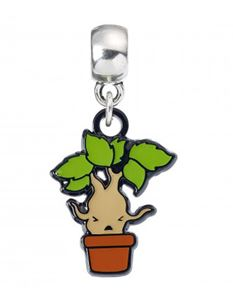 Harry Potter Mandrake Chibi Silver Plated Charm