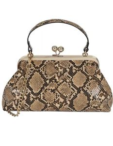 Collectif Faux Snakeskin Doris Hand Bag