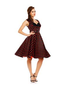 Dolly & Dotty Grace Black Polka Dot Dress