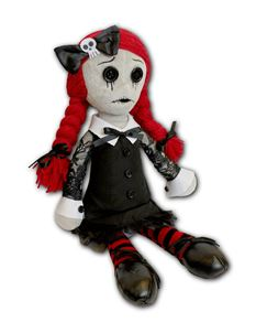 Spiral Direct Luna The Goth Collectable Soft Rag Doll