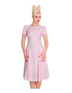 Hell Bunny 40s Vintage Style Madden Pink Polka Dress
