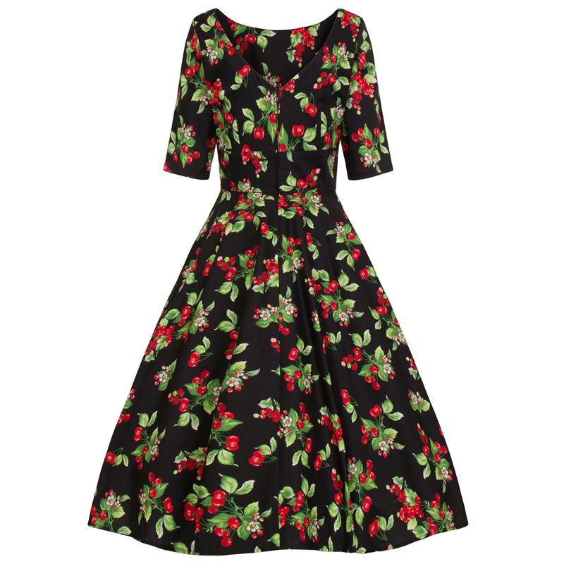 Hell Bunny Cherie Vintage Cherry 50s Style Dress