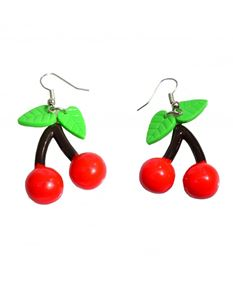 Collectif 50s Vintage Style Cherry Drop Earrings