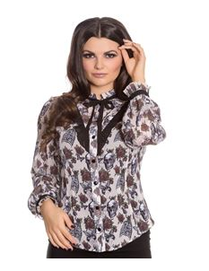 Spin Doctor Griselda Skull Alternative Cream Blouse