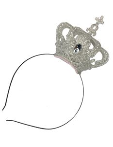 Silly Old Sea Dog Silver Glitter Crown Headband