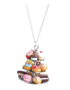 Delphi Delight's Afternoon Tea Cake Stand Necklace