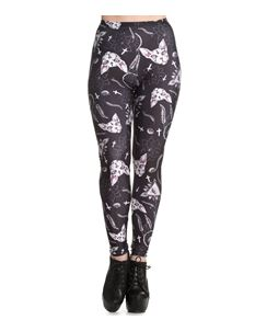 Spin Doctor Arcane Sphynx Cats Crosses Alternative Leggings