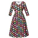 Lady Vintage Voluptuous Lyra Love Hearts Dress