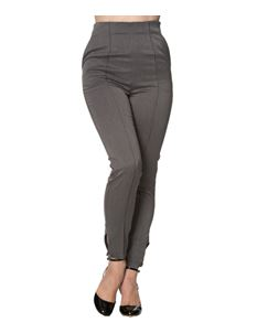 Banned 50s Retro's GreyTempting Fate High-Waist Trouser