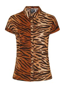 Hell Bunny Tora Tiger 50s Rockabilly Shirt Top