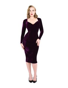 Zoe Vine Long Sleeve Velvet Dress