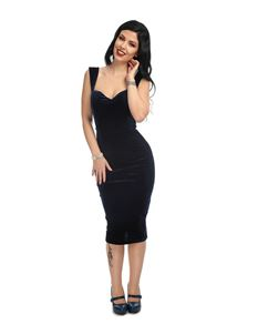 Collectif Andromeda Midnight Blue Velvet Pencil Dress