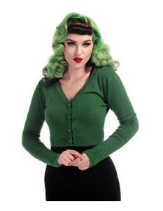 Collectif Kimberley Olive Knitted Cardigan