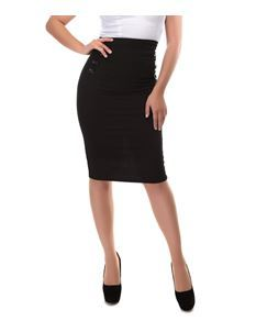 Collectif 50s Style Hilda Black Pencil Skirt