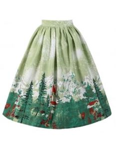 Lindy Bop Adalene Green Alpine Swing Skirt