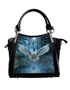 Anne Stokes Awaken Your Magic Owl 3D PVC Black Handbag